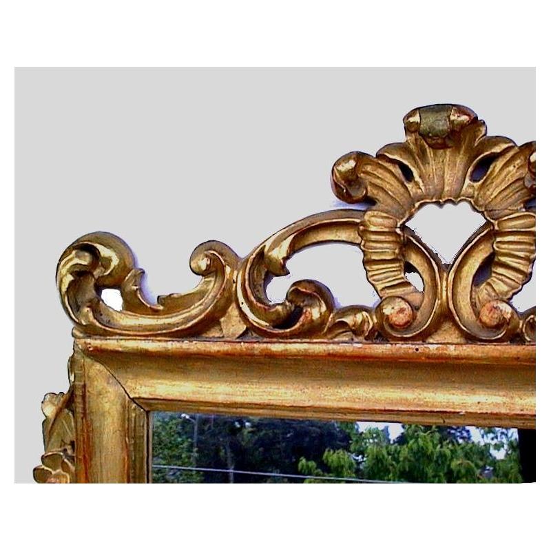 miroir baroque rectangulaire sculpt sur moinat sa antiquit s d coration. Black Bedroom Furniture Sets. Home Design Ideas