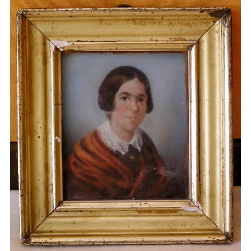 """Pastel """"Dame Marie Brousson née"""