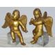 Paire d'anges en bois sculpté, Italie