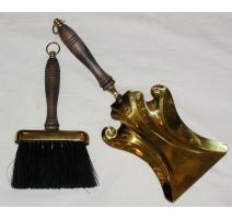 Pelle et brosse en laiton