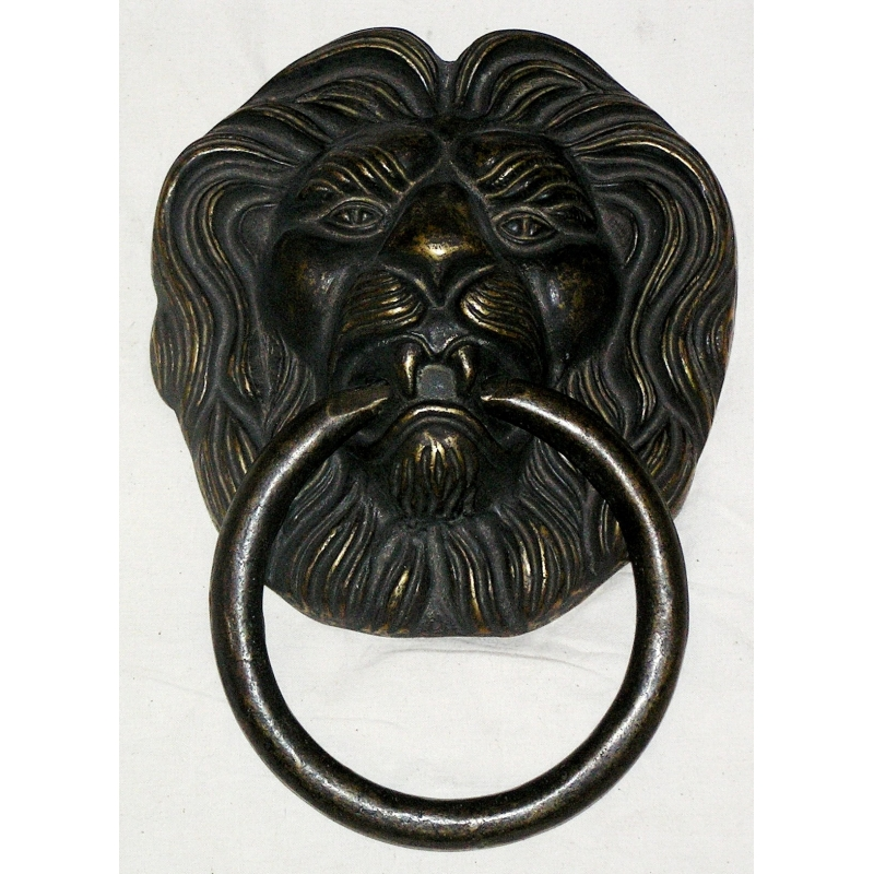 Heurtoir de porte t te de lion sur moinat sa antiquit s d coration - Heurtoir de porte tete de lion ...