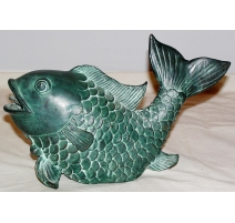 "Goulot de fontaine en bronze ""Poisson"""