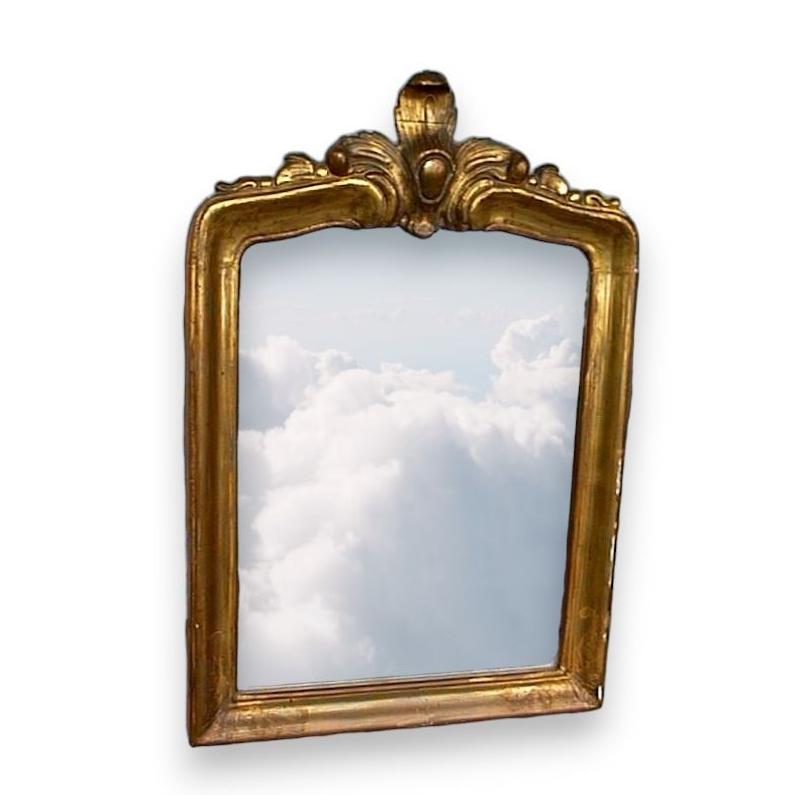 Petit miroir bernois sur moinat sa antiquit s d coration for Petit miroir
