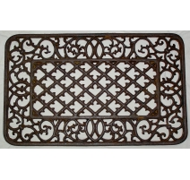 Paillasson rectangulaire en fonte brune