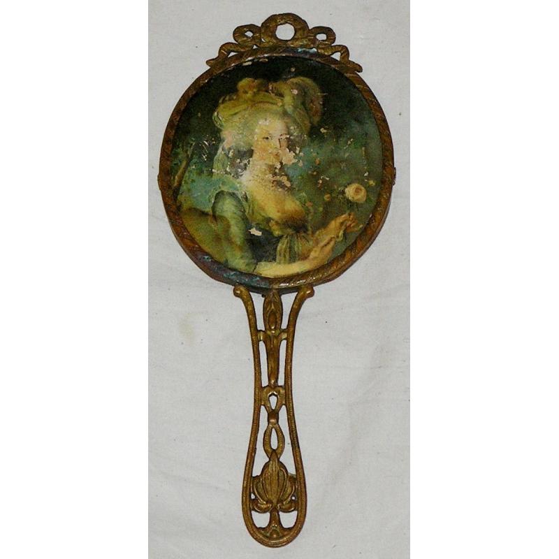 Petit miroir sur moinat sa antiquit s d coration for Petit miroir