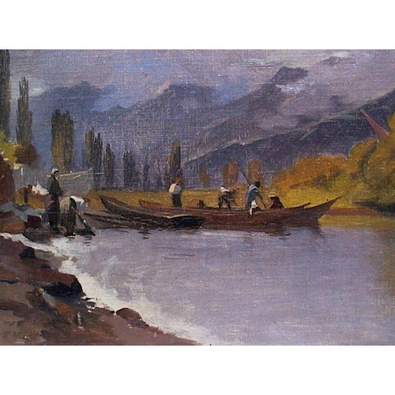 Peintures tableau lac de brienz de veillon moinat sa - Lac de brienz ...