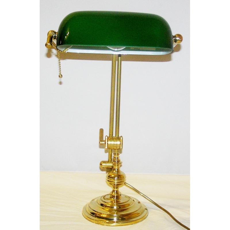 lampe de banquier abat jour coloris sur moinat sa antiquit s d coration. Black Bedroom Furniture Sets. Home Design Ideas