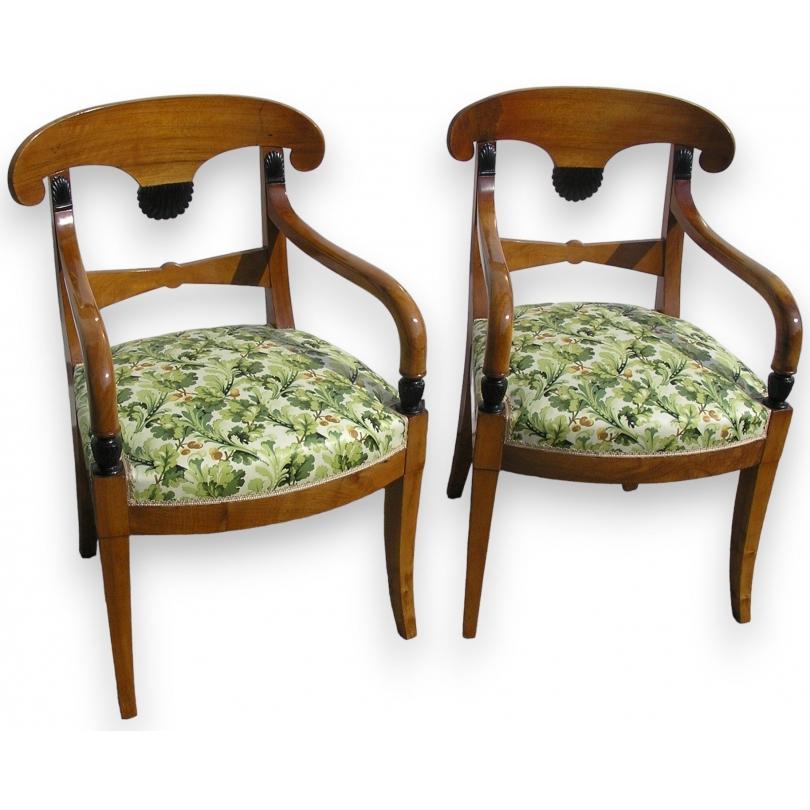 Ensemble de 4 chaises et 2 fauteuils Directoire.
