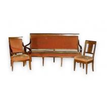 Salon Directoire, 1 canapé, 2 fauteuils, 2 chaises