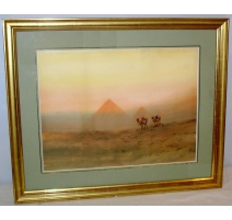 "Gouache ""Egypte"" de Harris BRETT"
