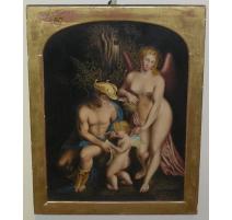 "Aquarelle ""Homme, Femme et enfant"""