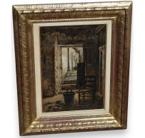 "Table ""Door Farm"", signed J. RULLENS."