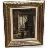 Tableau  Porte de Ferme , signé J. RULLENS.