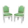 Paire de chaises Louis XVI laquées.