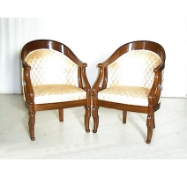 Pair of bergere gondola Louis-Philippe.