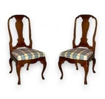 Série de 6 chaises Louis XV dont 1 copie.