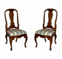 Serie von 6 stühlen, Louis XV, davon 1 kopie.