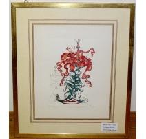 """Lithographie """"Fleurs surréaliste"""" de DALI"""