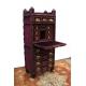 Petit bureau plat Napoléon III, dessus cuir rouge