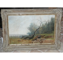 "Table ""Landscape"", signed CASTAN."