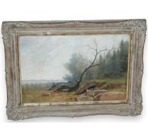 "Table ""Landscape"", signed CASTAN."