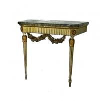 Console Louis XVI laquée en blanc.