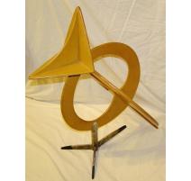"""Sculpture en cuir """"l'Oisillon"""", signée"""
