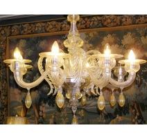 Lustre Vénitien de Murano à 8 lumières
