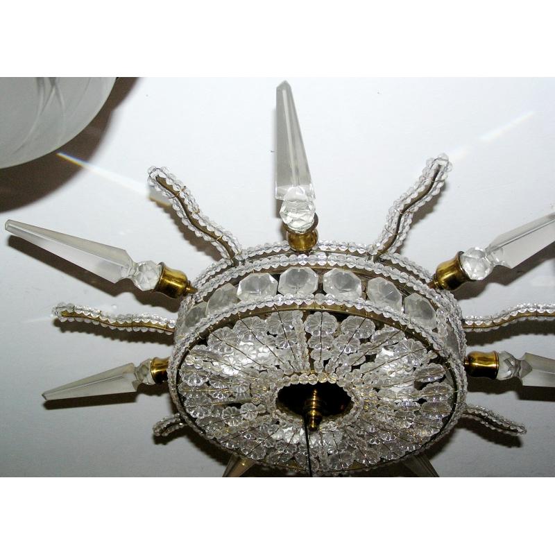plafonnier etoile en bronze moinat sa antiquit s. Black Bedroom Furniture Sets. Home Design Ideas