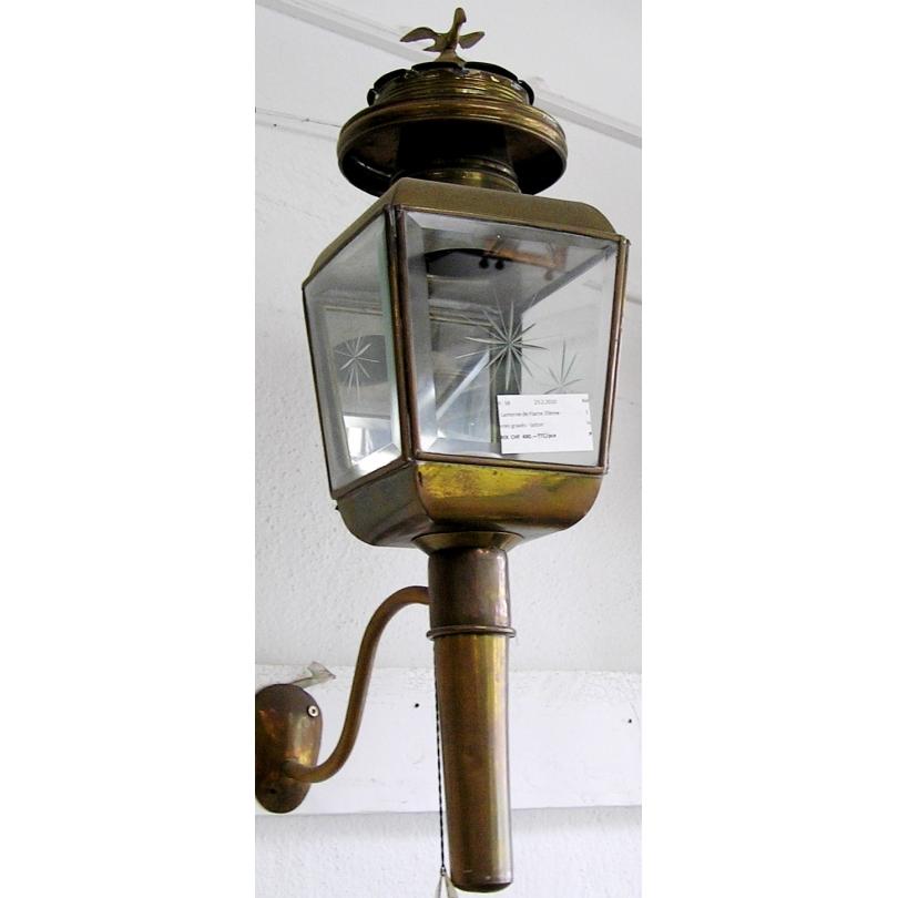 lanterne de fiacre en laiton avec sur moinat sa antiquit s d coration. Black Bedroom Furniture Sets. Home Design Ideas