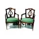 Paire de fauteuils Louis XVI, Berne. Dos lyre.