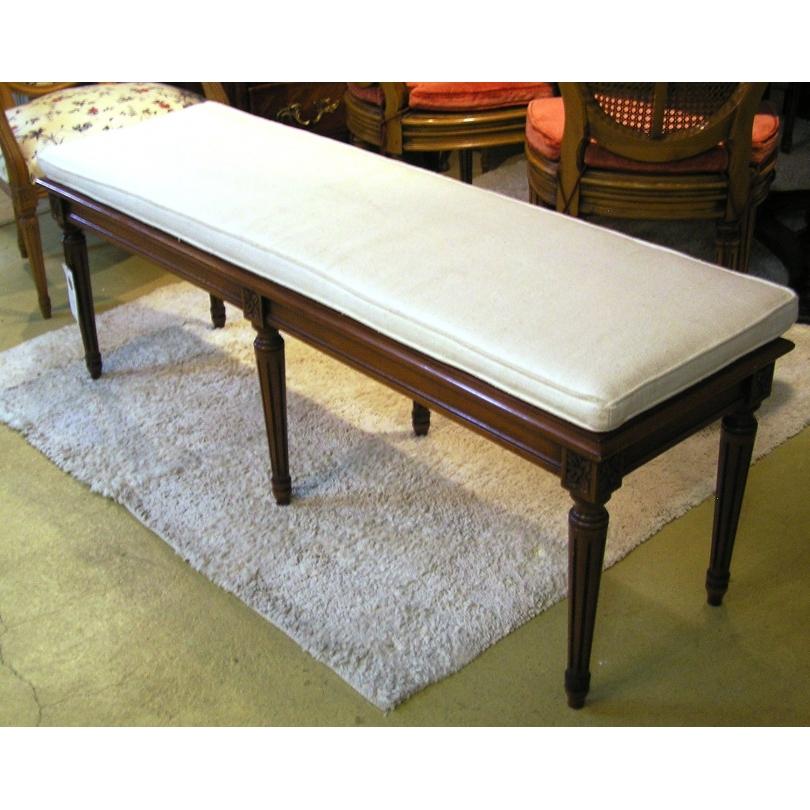 banquette style louis xvi cann e sur moinat sa antiquit s d coration. Black Bedroom Furniture Sets. Home Design Ideas