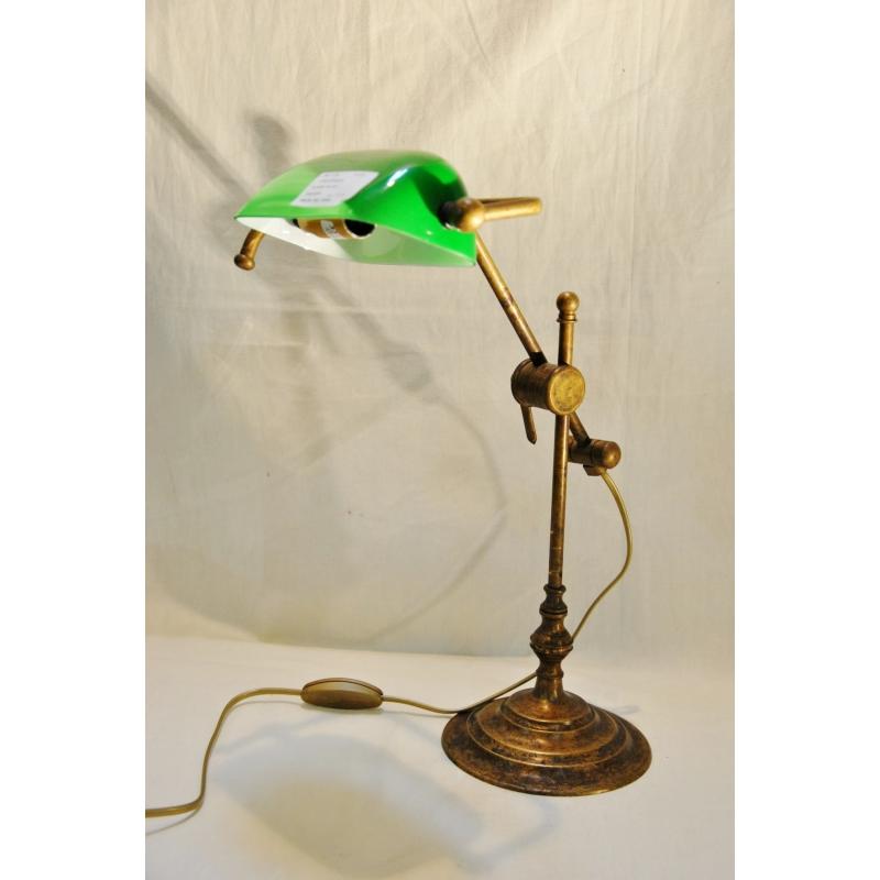 lampe de banquier en laiton patin avec moinat sa antiquit s d coration. Black Bedroom Furniture Sets. Home Design Ideas