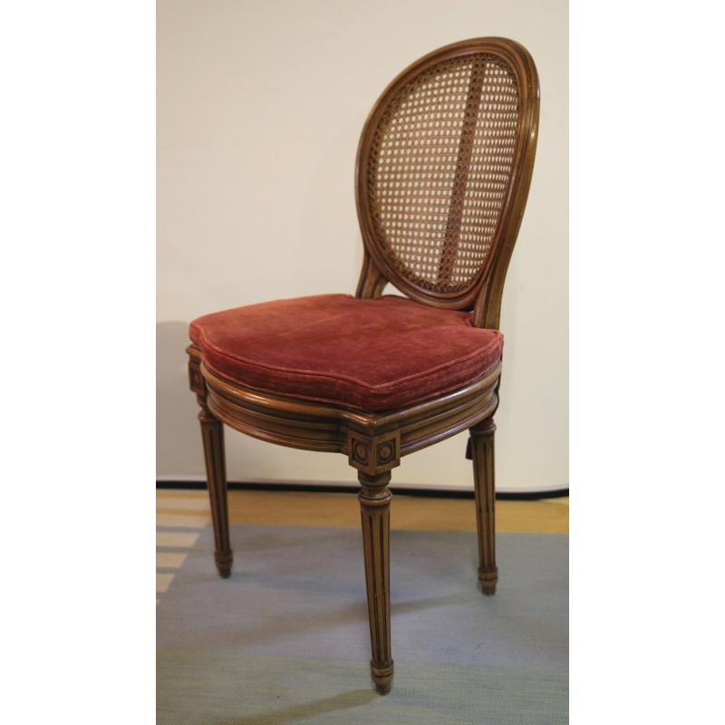 Chaise style louis xvi en h tre italie moinat sa antiquit s d coration - Chaise style louis xvi ...