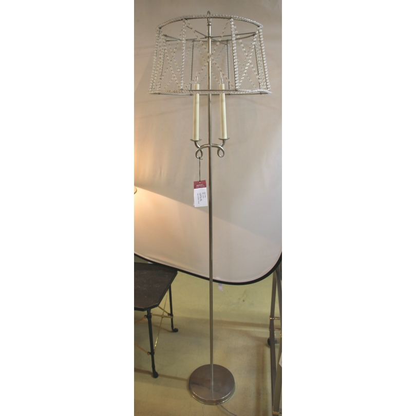 lampadaire argent perles cristal 1940 sur moinat sa. Black Bedroom Furniture Sets. Home Design Ideas