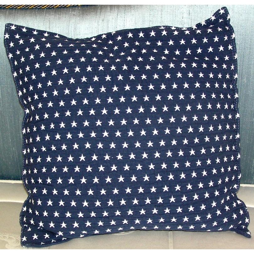 coussin etoiles fond bleu marine sur moinat sa antiquit s d coration. Black Bedroom Furniture Sets. Home Design Ideas