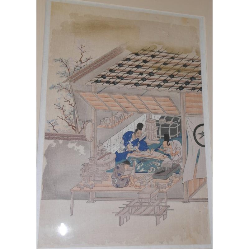 ukiyo e estampe japonaise de m tier moinat sa antiquit s d coration. Black Bedroom Furniture Sets. Home Design Ideas