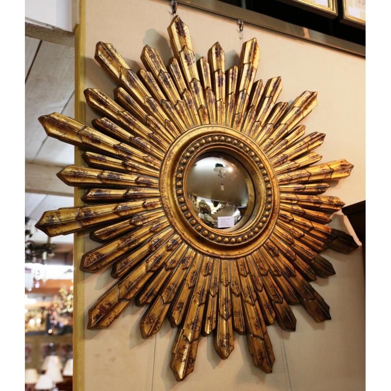 miroir soleil moul dor sur moinat sa antiquit s d coration. Black Bedroom Furniture Sets. Home Design Ideas