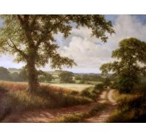 "Tableau ""The Country Road"", signé D. DIPNALL."
