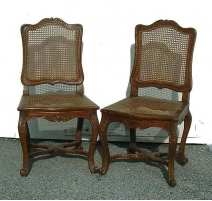 Pair chairs Regency cannées.