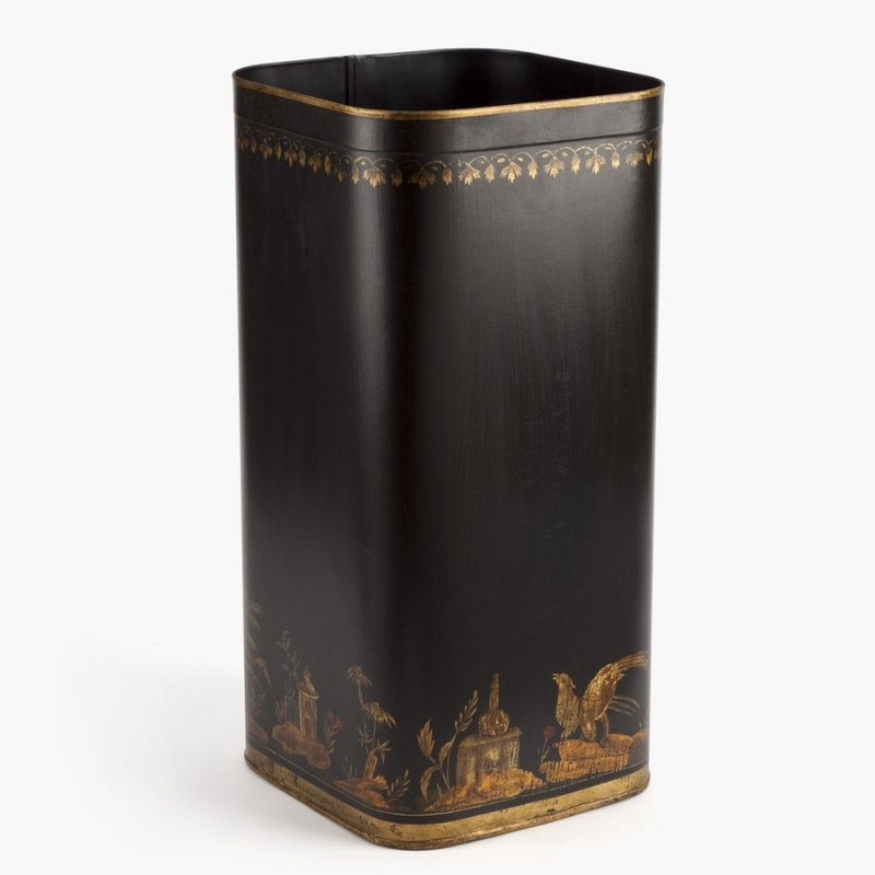 porte parapluie en t le peinte motif moinat sa. Black Bedroom Furniture Sets. Home Design Ideas