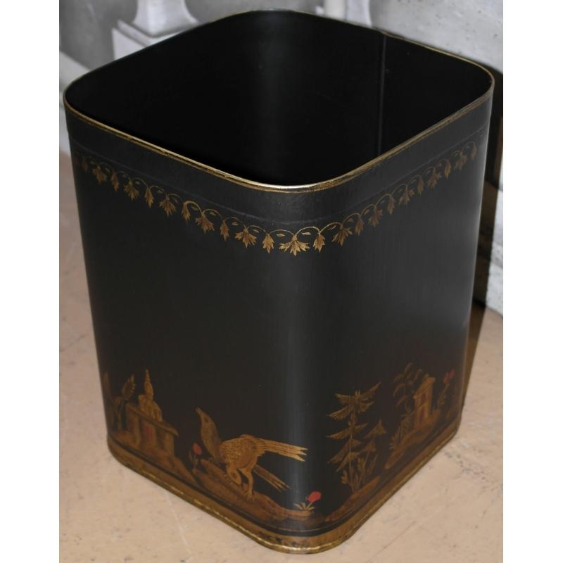 corbeille papier en t le peinte motif sur moinat sa. Black Bedroom Furniture Sets. Home Design Ideas