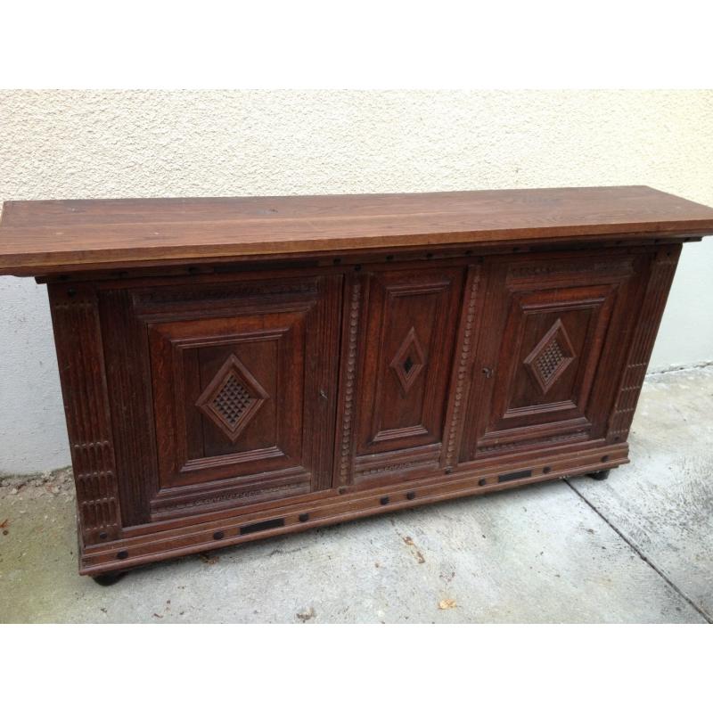 dessus de buffet en ch ne transform sur moinat sa antiquit s d coration. Black Bedroom Furniture Sets. Home Design Ideas