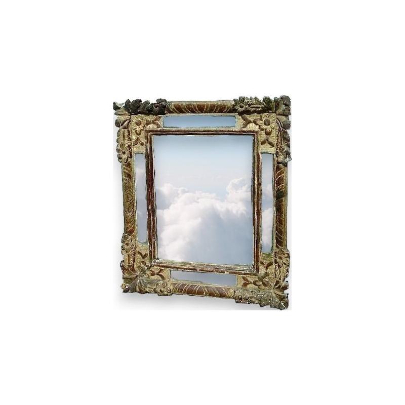 Petit miroir louis xiv sur moinat sa antiquit s d coration for Petit miroir