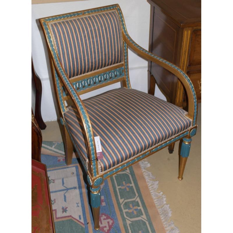 fauteuil style louis xvi gustavio iii sur moinat sa antiquit s d coration. Black Bedroom Furniture Sets. Home Design Ideas
