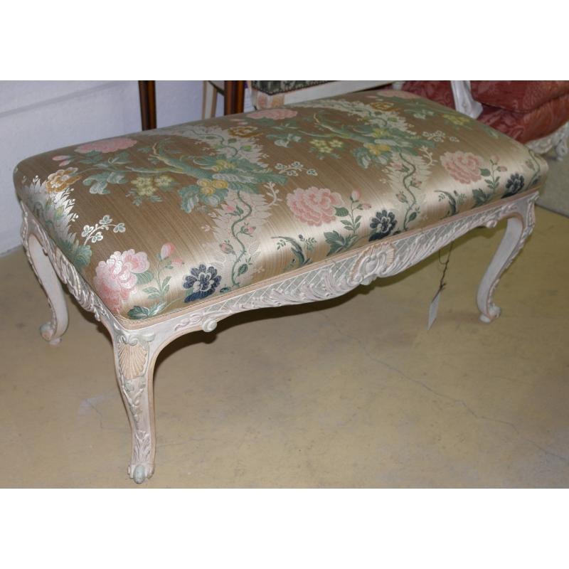 banquette style louis xv laqu e sur moinat sa antiquit s. Black Bedroom Furniture Sets. Home Design Ideas
