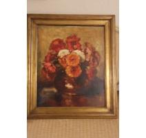 """Huile sur toile """"Bouquet de fleurs"""""""