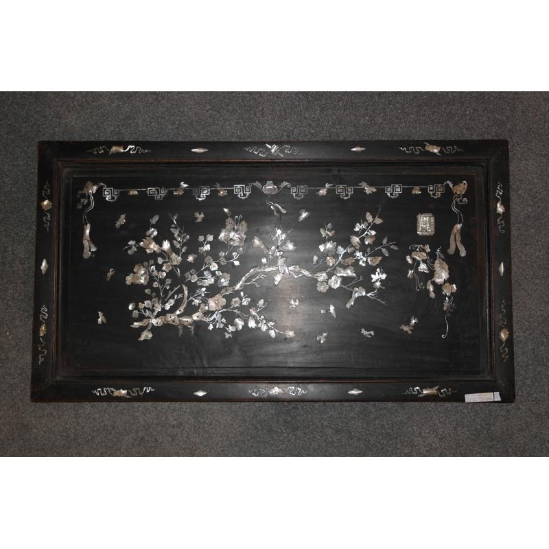 panneau chinois nacre et bois sur moinat sa antiquit s d coration. Black Bedroom Furniture Sets. Home Design Ideas