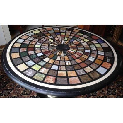 plateau de table rond en marqueterie de sur moinat sa. Black Bedroom Furniture Sets. Home Design Ideas