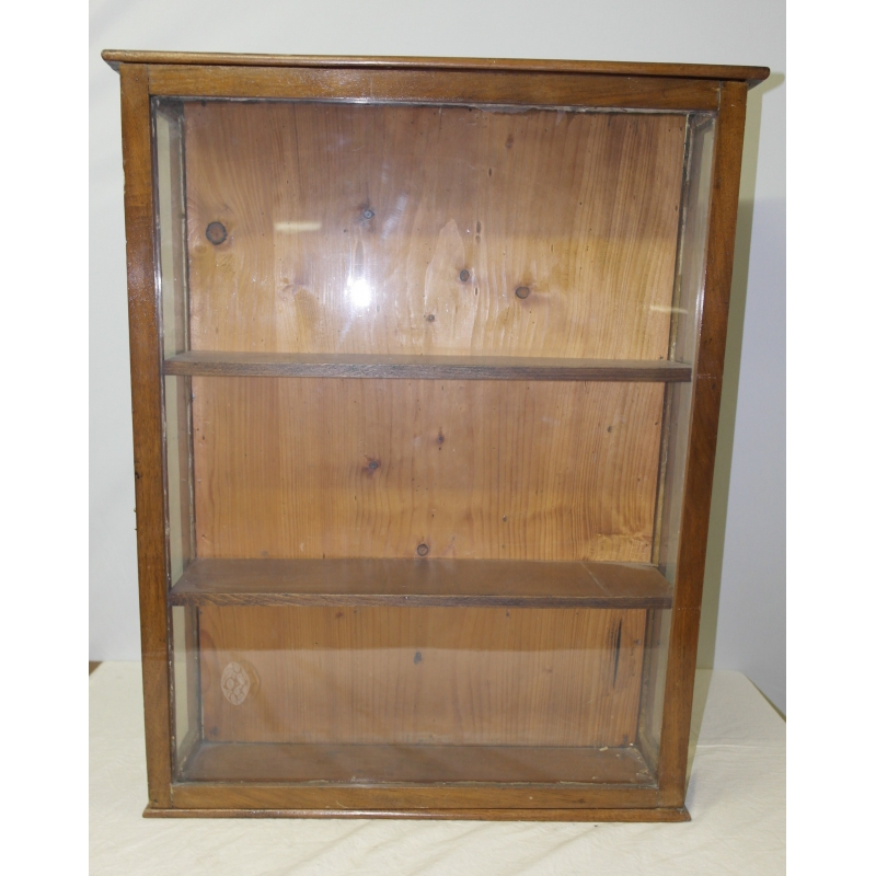 vitrine suspendre en noyer moinat sa antiquit s d coration. Black Bedroom Furniture Sets. Home Design Ideas